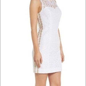 Lilly Pulitzer Dresses - NWT Lilly Pulitzer Mila dress white gold 8 $228